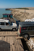 Ferry on Brahmaputra River<br /> Assam<br /> North East India<br /> UNESCO World Heritage Site