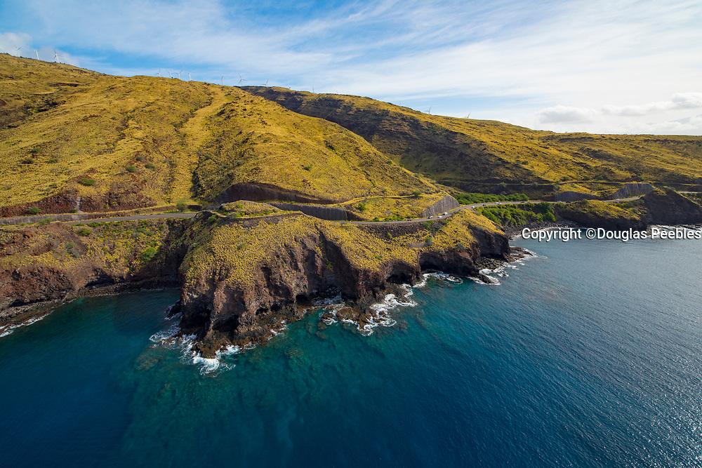 Aerial, Oluwalu, Coastline, Maui, Hawaii