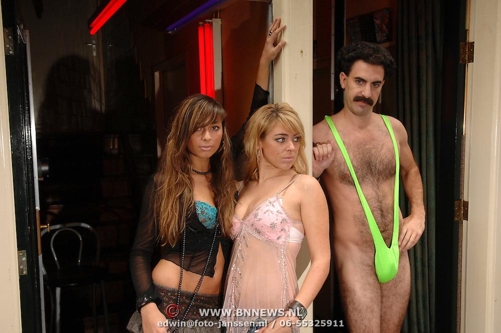 NLD/Amsterdam/20061012 - Borat bezoekt Nederland promotie film Cultural Learnings Of America For Make Benefit Glorious Nation Of Kazakhstan