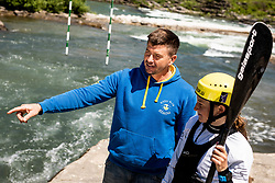Eva Alina Hocevar, 18-years old kayak and canoe Slovenian athlete with his father and coach Simon Hocevar during practice session in Tacen, Ljubljana, Slovenia. Photo by Vid Ponikvar / Sportida