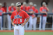 Ole Miss head coach Mike Bianco (5) vs. Vanderbilt at Oxford-University Stadium Stadium in Oxford, Miss. on Sunday, April 7, 2013. Vanderbilt won 7-6 in 11 innings.