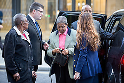 © Licensed to London News Pictures. 04/10/2016. London, UK. Pansy Blake, mother of murdered Eastenders actress Sian Blake, arrives at the Old Bailey to hear the sentencing of Arthur Simpson-Kent, who has admitted murdering former Eastenders actress Sian Blake and their two children aged eight and four. Photo credit : Tom Nicholson/LNP
