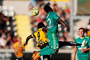 GOTHENBURG, SWEDEN - JULY 19: Alhassan Kamara of BK Hacken and Sady Gueye of FK Liepaja competes for the ball during the UEFA Europa League Qualifier match between BK Hacken and FK Liepaja at Bravida Arena on July 19, 2018 in Gothenburg, Sweden. Photo by Nils Petter Nilsson/Ombrello ***BETALBILD***