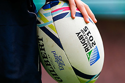 Rugby World Cup ball detail - Mandatory byline: Rogan Thomson/JMP - 07966 386802 - 17/10/2015 - RUGBY UNION - Twickenham Stadium - London, England - South Africa v Wales - Rugby World Cup 2015 Quarter Finals.