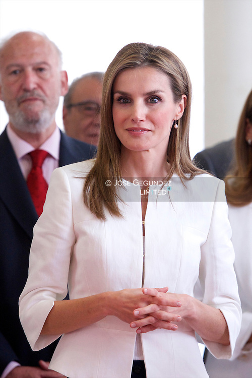 Queen Letizia of Spain attends the Event commemorating the 150th anniversary of the founding of Spanish Red Cross and annual commemoration of the World Day of Red Cross and Red Crescent at Palacio de Congresos on July 4, 2014 in Madrid