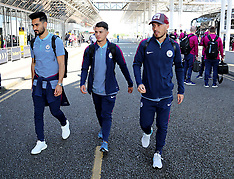 Manchester: Manchester City departing for the USA - 17 July 2017