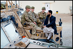 MOD Imam Asim Hafiz  in Afghanistan, January 2014 Picture by Andrew Parsons / Parsons Media Ltd
