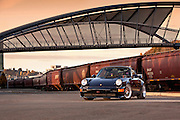 Image of a 1988 navy blue Porsche 911 Carrera Club Sport car in Seattle, Washington, Pacific Northwest, property released