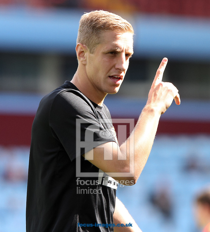 Michael Dawson of Hull warms up before the Barclays Premier League match at Villa Park, Birmingham<br /> Picture by Tom Smith/Focus Images Ltd 07545141164<br /> 31/08/2014