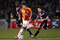 Fotball<br /> Frankrike<br /> Foto: DPPI/Digitalsport<br /> NORWAY ONLY<br /> <br /> FOOTBALL - UEFA CUP 2008/2009 - 1/16 FINAL - 1ST LEG - 18/02/2009 - FC GIRONDINS BORDEAUX v GALATASARAY SK - MILAN BAROS (GAL) / SOULEYMANE DIAWARA / FERNANDO CAVENAGHI (BOR)
