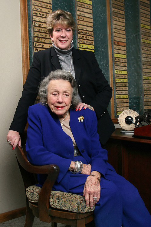 First female stockbroker in the state of Texas along with her daughter.