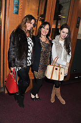 ARLENE PHILLIPS and her daughters ALANA and ABI attend the premier of 2012 Cirque du Soleil's Totem at the Royal Albert Hall, London on 5th January 2012,