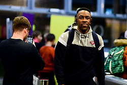 Raphell Thomas-Edwards of Bristol Flyers arrives at SGS Wise Arena prior to kick off - Photo mandatory by-line: Ryan Hiscott/JMP - 14/12/2019 - BASKETBALL - SGS Wise Arena - Bristol, England - Bristol Flyers v Worcester Wolves - British Basketball League Championship