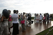 Water Mill, New York: Attendees lounge at the RUSH Philanthropic Arts Foundation 15th Annual Art For Life Benefit Gala held in the Hamptons at the Farmview Farms on July 26, 2014  in Water Mill, New York. (Terrence Jennings)