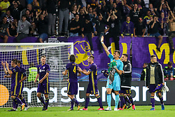 Players of NK Maribor greets fans after group E football match between NK Maribor and Spartak Moscow in 1st Round of UEFA Champions League, on Septebmer 13, 2017 in Ljudski vrt, Ljubljana, Slovenia. Photo by Morgan Kristan / Sportida