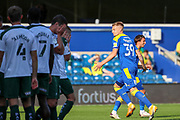 AFC Wimbledon striker Joe Pigott (39) GOAL 3-2 during the EFL Sky Bet League 1 match between AFC Wimbledon and Plymouth Argyle at the Kiyan Prince Foundation Stadium, London, England on 19 September 2020.
