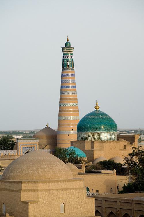 Skyline view of old city (Ichon Qala), Khiva