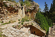The remains of the 12th century Crusader fortress of Yehiam (Gidin or Jiddin). Western Galilee, Israel
