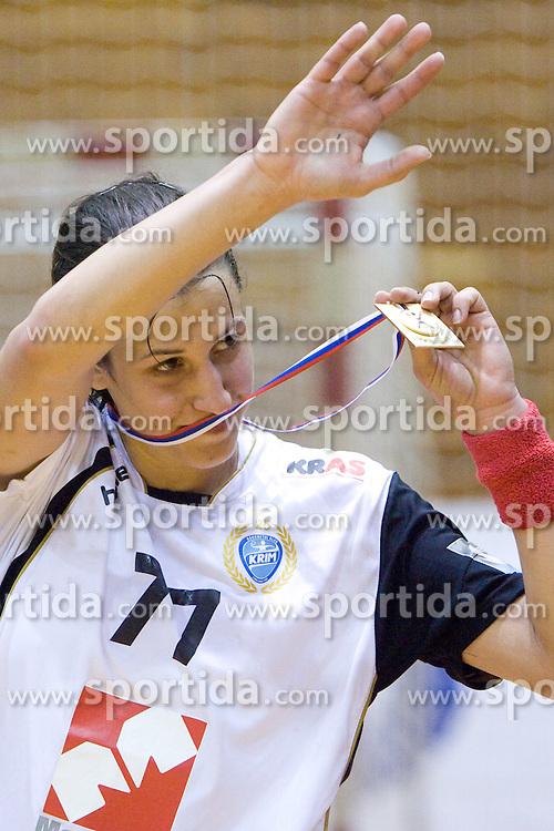 Andrea Lekic of Krim at last 10th Round handball match of Slovenian Women National Championships between RK Krim Mercator and RK Olimpija, on May 15, 2010, in Galjevica, Ljubljana, Slovenia. Olimpija defeated Krim 39-36, but Krim became Slovenian National Champion. (Photo by Vid Ponikvar / Sportida)