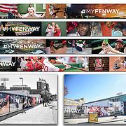 Photographs: Boston Red Sox #MyFenway Stadium Fence Wrap - 2016