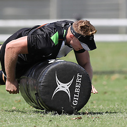 Daniel Du Preez during The Cell C Sharks High CNS Rugby / Skills / Field Conditioning KP2, session at Growthpoint Kings Park in Durban, South Africa. December 9th December 2016 (Photo by Steve Haag)<br /> <br /> images for social media must have consent from Steve Haag