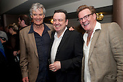 SIMON WILLIAMS; RICHARD MCCABE; CHRIS LARKIN, Yes, Prime Minister Press night re-opening at Apollo Theatre, Shaftesbury Avenue London<br /> <br />  , -DO NOT ARCHIVE-© Copyright Photograph by Dafydd Jones. 248 Clapham Rd. London SW9 0PZ. Tel 0207 820 0771. www.dafjones.com.