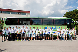 National team Slovenia at first gathering of Basketball national team of Slovenia for training camp in Zrece on July 16, 2014 in Ljubljana, Slovenia. Photo by Urban Urbanc / Sportida