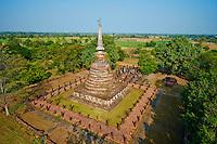 Thailande, province de Sukhothai, parc archeologique de Sukhothai, Wat Chang Lom // Thailand, Sukhothai, Sukhothai Historical Park, Wat Chang Lom