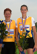 Poznan, POLAND.  2006, FISA, Rowing World Cup the GER W2-, Bow Nicole ZIMMERMANN amd Elke  HIPLER  'Malta Regatta course;  Poznan POLAND, Sat. 17.06.2006. © Peter Spurrier   ....[Mandatory Credit Peter Spurrier/ Intersport Images] Rowing Course:Malta Rowing Course, Poznan, POLAND