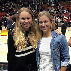 "Angelique Kerber releases a photo on Instagram with the following caption: ""Had a lot of fun last night with @carowozniacki at the @dallasmavs vs. @miamiheat game! Finally got to see @swish41 in action... \ud83d\udc4f\ud83c\udfc0\ud83c\udde9\ud83c\uddea\ud83d\udc51 #legend"". Photo Credit: Instagram *** No USA Distribution *** For Editorial Use Only *** Not to be Published in Books or Photo Books ***  Please note: Fees charged by the agency are for the agency's services only, and do not, nor are they intended to, convey to the user any ownership of Copyright or License in the material. The agency does not claim any ownership including but not limited to Copyright or License in the attached material. By publishing this material you expressly agree to indemnify and to hold the agency and its directors, shareholders and employees harmless from any loss, claims, damages, demands, expenses (including legal fees), or any causes of action or allegation against the agency arising out of or connected in any way with publication of the material."