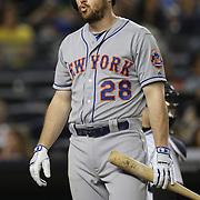 Daniel Murphy, New York Mets, batting during the New York Yankees V New York Mets, Subway Series game at Yankee Stadium, The Bronx, New York. 12th May 2014. Photo Tim Clayton