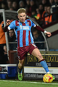 Paddy Madden of Scunthorpe United during the Sky Bet League 1 match between Scunthorpe United and Wigan Athletic at Glanford Park, Scunthorpe, England on 2 January 2016. Photo by Ian Lyall.