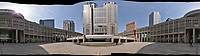 Morning 360 Degree Panorama View of Citizen's Plaza and the Metropolitan Government Building. Composite of 35 images taken with a Leica CL camera and 18 mm f/2.8 lens (ISO 100, 18 mm, f/11, 1/125 sec). Raw images processed with Capture One Pro and AutoPano Giga Pro.