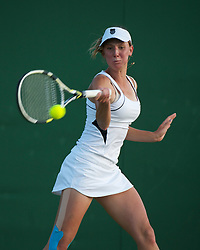 LONDON, ENGLAND - Saturday, June 25, 2011: Stephanie Nauta (USA) in action during the  Girls' Singles 1st Round match on day six of the Wimbledon Lawn Tennis Championships at the All England Lawn Tennis and Croquet Club. (Pic by David Rawcliffe/Propaganda)