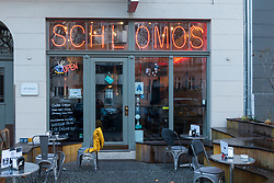 Exterior of Schlomos bagel cafe in Prenzlauer Berg, Berlin, Germany