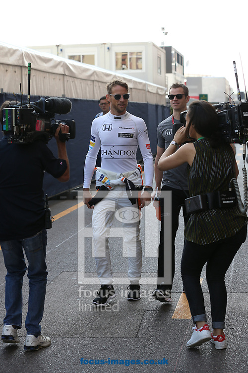 Jenson Button of McLaren Honda during the practice session for the 2017 Monaco Formula One Grand Prix at the Circuit de Monaco, Monte Carlo<br /> Picture by EXPA Pictures/Focus Images Ltd 07814482222<br /> 25/05/2017<br /> *** UK & IRELAND ONLY ***<br /> <br /> EXPA-EIB-170525-0067.jpg