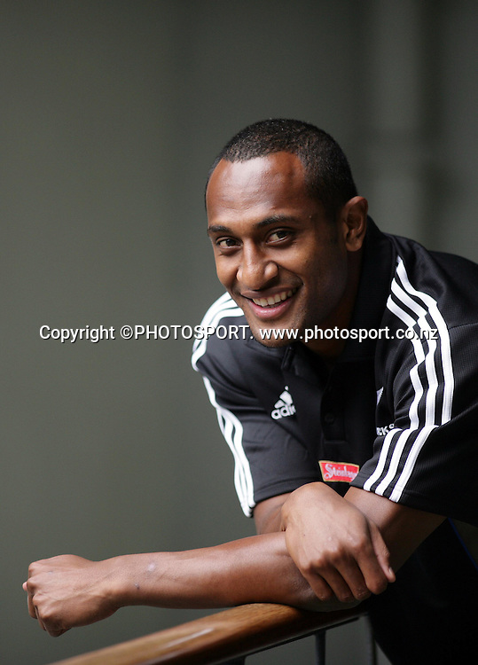 Joe Rokocoko during the All Blacks media session held at the Heritage Hotel, Auckland, on Wednesday 30 May 2007. Photo: Andrew Cornaga/PHOTOSPORT
