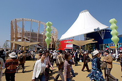 Sponsors pavilions at World Expo 2005 at Aichi near Nagoya in Japan