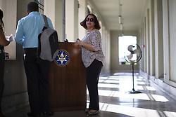 October 3, 2018 - San Juan, Puerto Rico - San Juan, Octubre 3, 2018 - MCD - FOTOS para ilustrar una historia sobre el juicio federal por el asesinato del canadiense Adam Anhang y en el que se acusa a çurea V‡zquez Rijos. EN LA FOTO Marcia V‡zquez Rijos (una de los acusados)..FOTO POR:  tonito.zayas@gfrmedia.com.Ramon '' Tonito '' Zayas / GFR Media (Credit Image: © El Nuevo Dias via ZUMA Press)