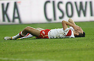 POZNAN 17/11/2010.FOOTBALL INTERNATIONAL FRIENDLY.POLAND v IVORY COAST.Grezgorz Wojtkowiak of Poland ..Fot: Piotr Hawalej / WROFOTO