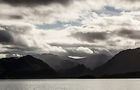 Mountains at the head of Derwent Water in the English Lake District