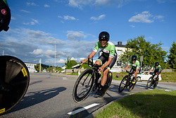 Carmen Small (Cylance Pro Cycling) approaches 500 metres to go at the 42,5 km team time trial of the UCI Women's World Tour's 2016 Crescent Vårgårda Team Time Trial on August 19, 2016 in Vårgårda, Sweden. (Photo by Sean Robinson/Velofocus)