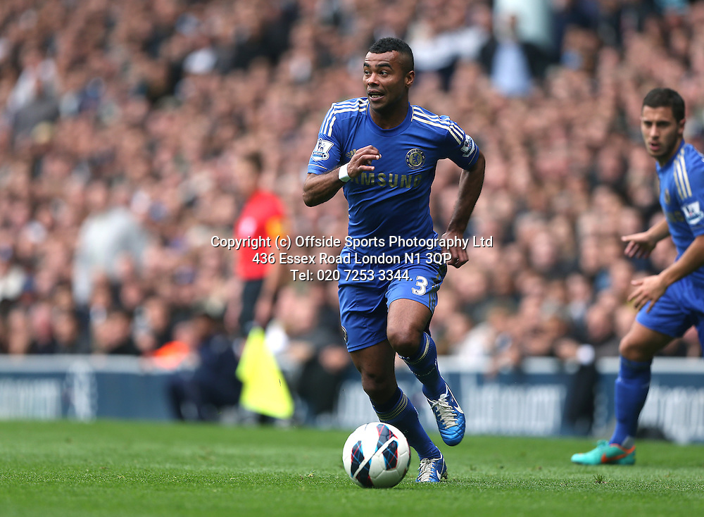 20 October 2012  Premier League football - Tottenham Hotspur v Chelsea<br /> Ashley Cole.<br /> Photo: Mark Leech.