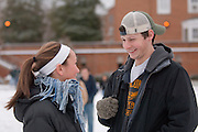 18538Winter Campus photos, Students...Megan Weasel and Ben Rood