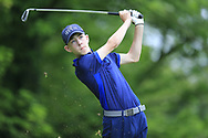 Noah Bickerstaff (Massereene) during the Connacht U14 Boys Amateur Open, Ballinasloe Golf Club, Ballinasloe, Galway,  Ireland. 10/07/2019<br /> Picture: Golffile   Fran Caffrey<br /> <br /> <br /> All photo usage must carry mandatory copyright credit (© Golffile   Fran Caffrey)