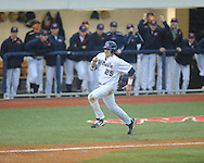 Ole Miss' Andrew Mistone (25) scores vs. Memphis at Oxford-University Stadium in Oxford, Miss. on Tuesday, February 26, 2013. Memphis won 4-3. Ole Miss falls to 7-1.
