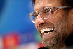 Liverpool manager Jurgen Klopp during the press conference at Anfield, Liverpool.