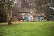 Rural cottage in the woods Shottisham, Suffolk, England, UK