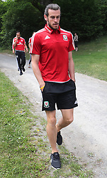 STOCKHOLM, SWEDEN - Sunday, June 5, 2016: Wales' Gareth Bale during a pre-match walk at the Royal Park Hotel ahead of the international friendly match against Sweden. (Pic by David Rawcliffe/Propaganda)