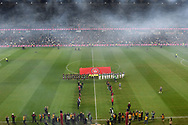 SYDNEY, AUSTRALIA - JULY 20: Both teams walk onto the field during the club friendly football match between Leeds United and Western Sydney Wanderers FC on July 20, 2019 at Bankwest Stadium in Sydney, Australia. (Photo by Speed Media/Icon Sportswire)